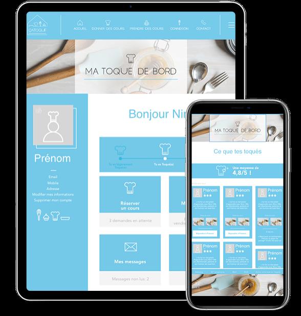 Application mobile de cuisine Catoque